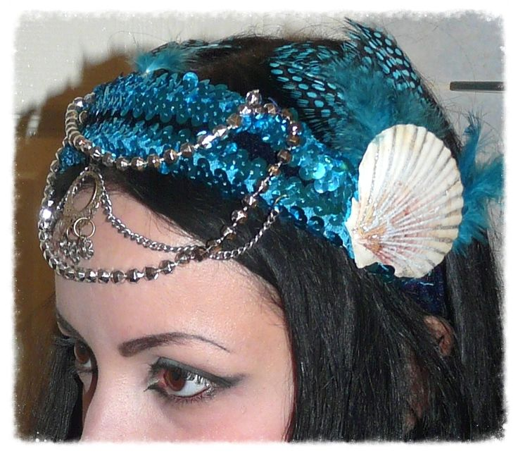 Mermaid inspired headdress that I made for a friend.