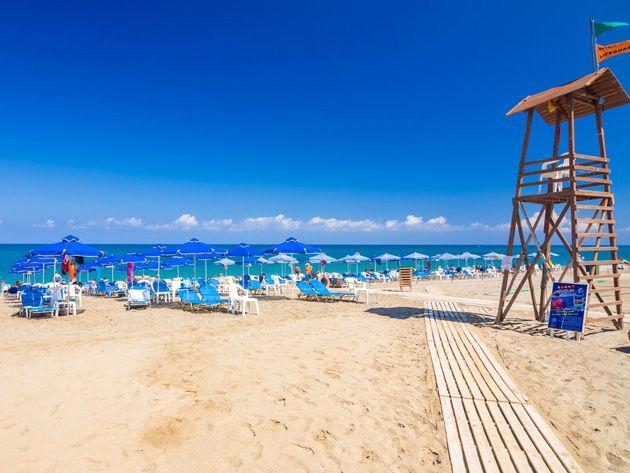 Platanias beach, Rethymno, Crete, Greece