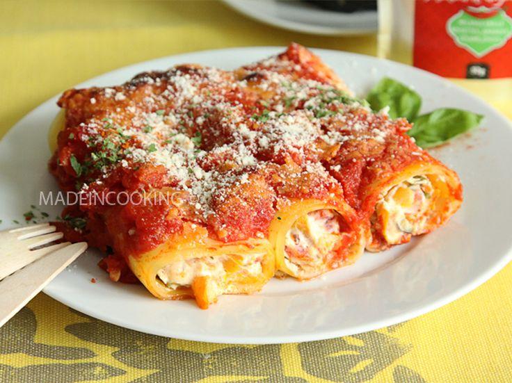 Cannelloni aux poivrons et à la ricotta
