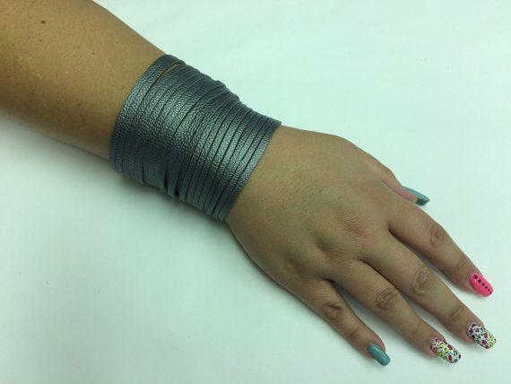 Leather cuff bracelet leather boho bracelet by StarBoundWestern