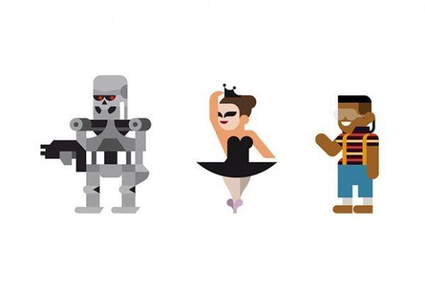 Minimalistische Filmfiguren von Hey Studio