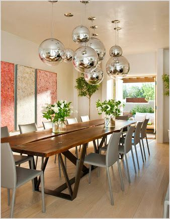 disco ball light dining table - Google Search