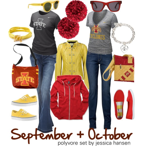 Cardinal & Gold! What to wear to Iowa State  games! #ISUWinningforPinning