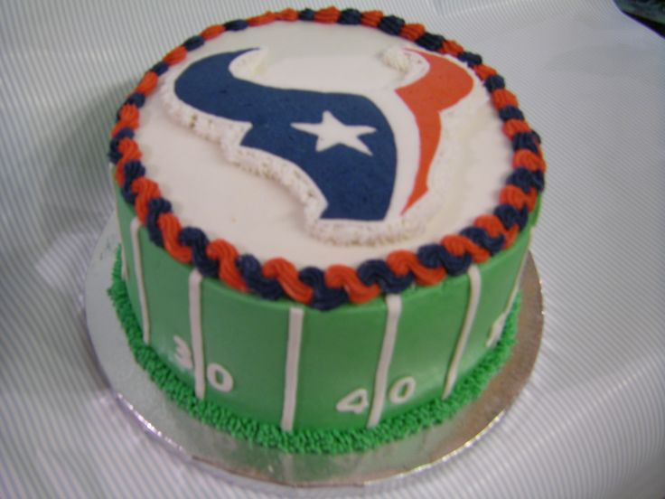 Go Houston Texans!!!! - Lemon cake and all buttercream icing, except for the numbers.  Go Texans!!!!