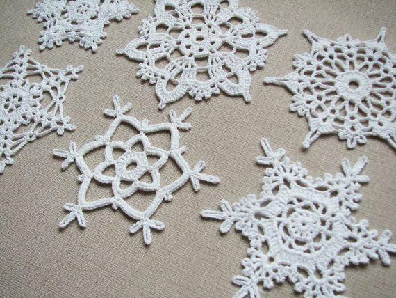 Fiocchi di neve pizzo decorazione per Casa Natale di SkyBlueFancy