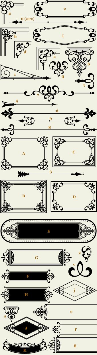 Letterhead Fonts / LHF Confection Essentials 1 / Classic Panels & Borders