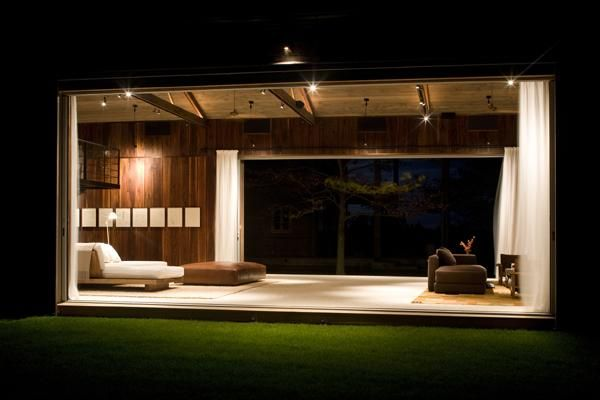 both side opening wall barn house modern design, now this is open concept!