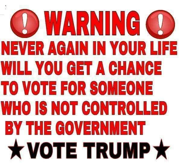 Think about it - you want to be part history, do you?  Be on the right side of history, this time!  VOTE TRUMP!!!