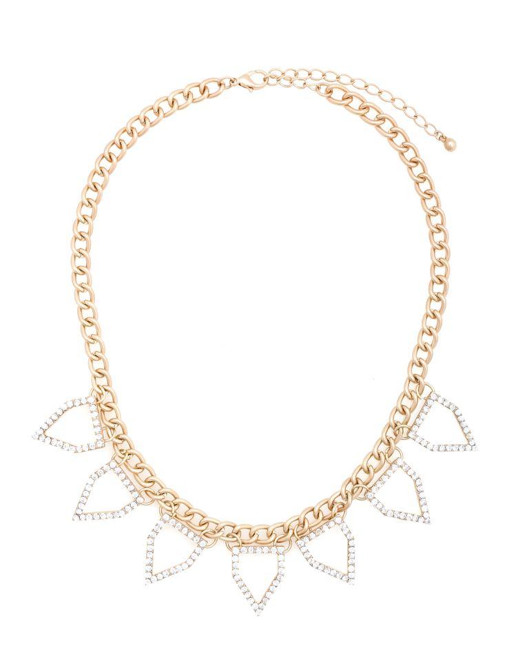 Geometric Diamond Necklace | Women's Plus Size Jewelry | ELOQUII