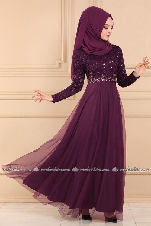 Modaselvim Abiye Pul Payetli Tul Tesettur Abiye Asm2205 Murdum Elbise Modelleri Elbise