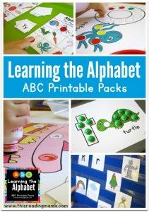 Learning the Alphabet - ABC Printable Packs - This Reading Mama
