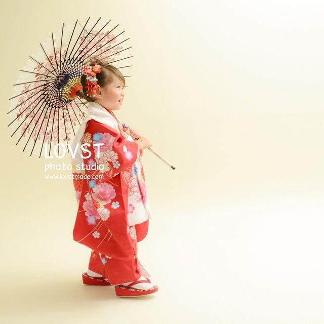#LOVST#ラブスト#勝どき#子供写真スタジオ#ハウススタジオ #3歳 #着物#被布#七五三