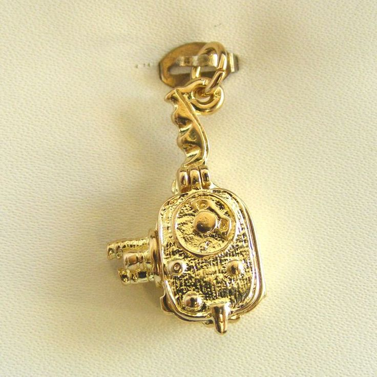Movie Camera - movable Charm - chr-2679 Solid Gold | Sterling Silver