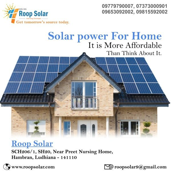 Solar Power For Home It Is More Affordable Than Think About It Solar Power House Solar Solar Power Panels