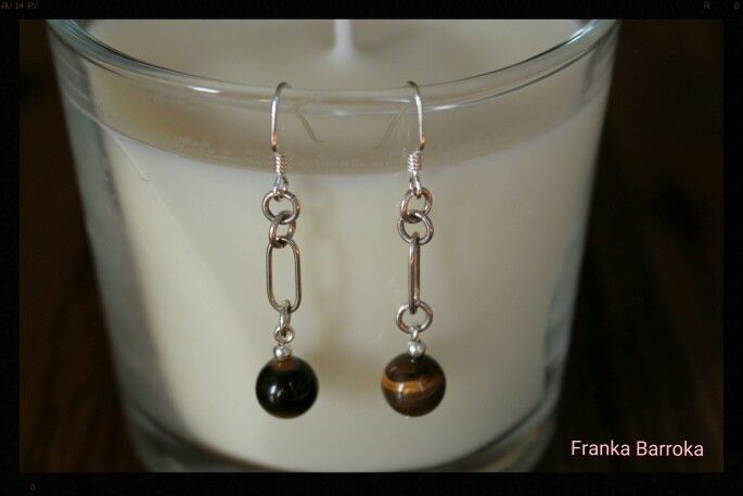 Silver and gemstones earrings available right now on www.etsy.com/shop/frankabarroka