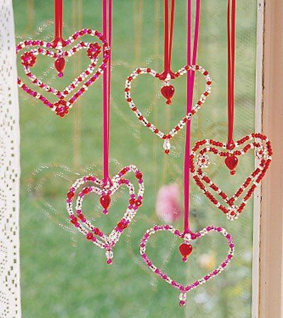 Valentine's Day Craft with beads