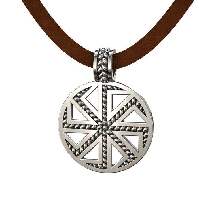 Kolovrat Kolyadnik (Ladinets). Slavic men's pendant amulet of sun. Weight : about 12g. Metal : 925 sterling silver. Solid 925 Sterling silver.   eBay!