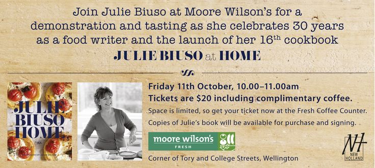 Visit Julie at one of her many events around the country in the coming weeks...