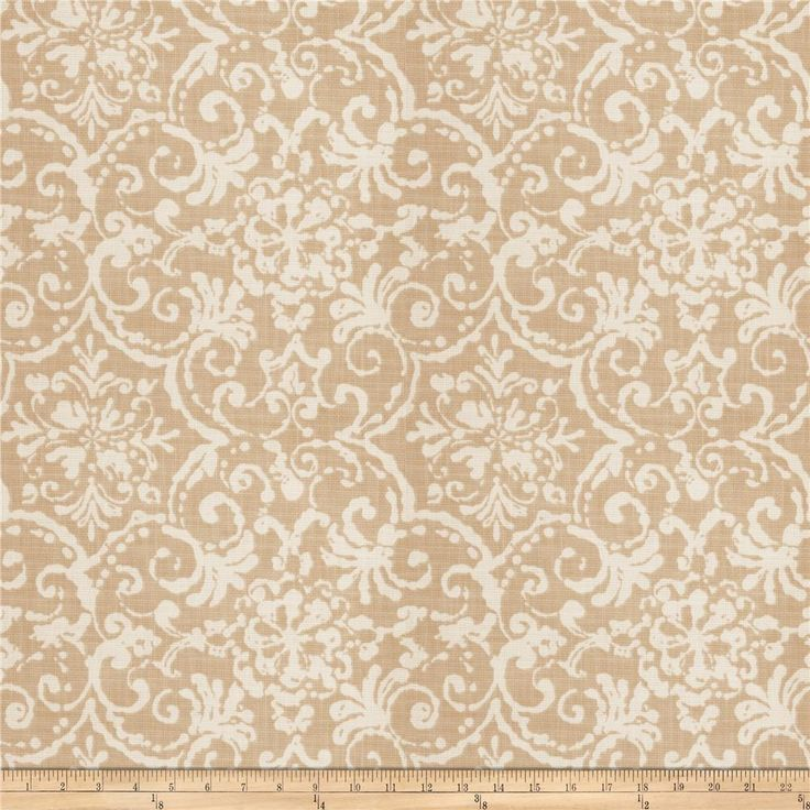Fabricut Awareness Basketweave Beech from @fabricdotcom  Screen printed on 100% cotton basketweave, this heavyweight fabric features a lattice / fretwork pattern and is perfect for window accents (draperies, valances, curtains, and swags), accent pillows, duvet covers, and upholstery projects.