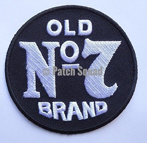 """Jack Daniels Old No7 Embroidered 3 Inch Biker Patch - High Quality Embroidered Patch - Iron on/ Sew on - Great for Jackets, vests, hats and bags - 4"""" Made Tough and Durable - Patch Squad"""