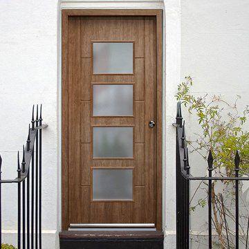 New beautiful external door with safety frosted glass. #glassdoor #frontdoor