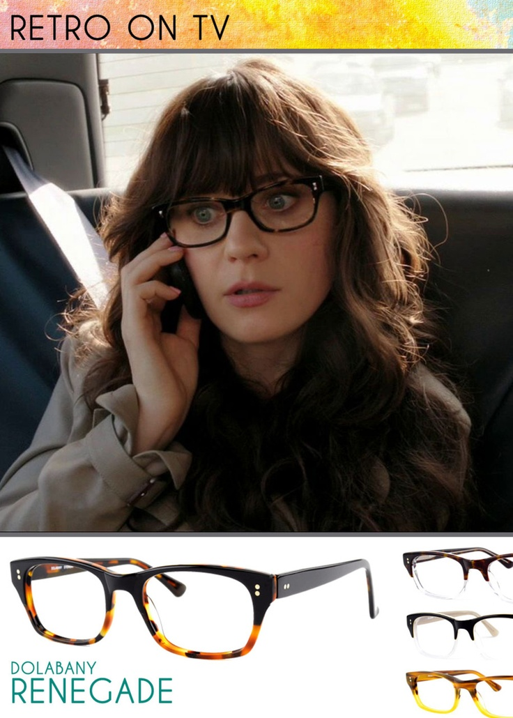 "Have you seen the new show, ""New Girl""? Such a funny show! It features Zooey Deschanel as Jessica ""Jess"" Day living with 3 guys after a bad breakup. She's a champ pulling off the above retro look in the Ebony Demi color which is featured at least once in every episode. Do you want her look? The frames can be found here and can be purchased through your optical store."