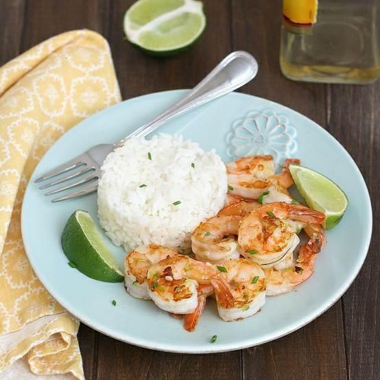 Tequila-orange grilled shrimp   food   Pinterest