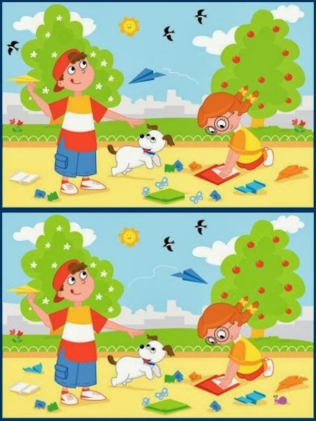 If you can find all the ten differences in the given pictures, you are a genius.