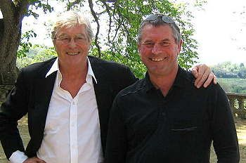"""Me and peter Mayle (or is it peter Mayle and I) on """"A Day in Provence"""