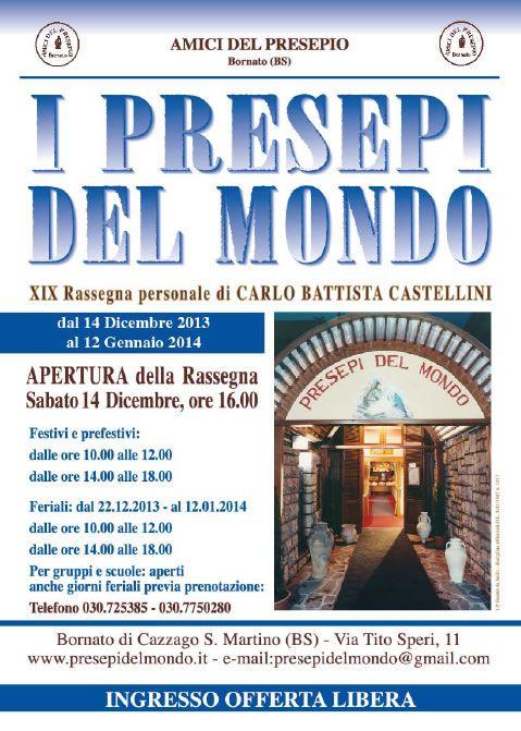 I Presepi del Mondo a Bornato http://www.panesalamina.com/2014/20357-i-presepi-del-mondo-a-bornato.html