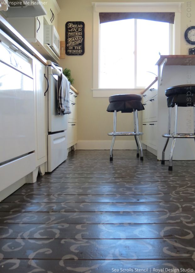 Best Images About Stenciled Amp Painted Floors