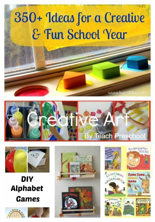 {350+ Ideas for a Creative  Fun School Year} -  amazing ideas  activities to kick-start the school year!