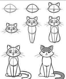 Como desenhar um número esquema gatinho 17   aprender a desenhar