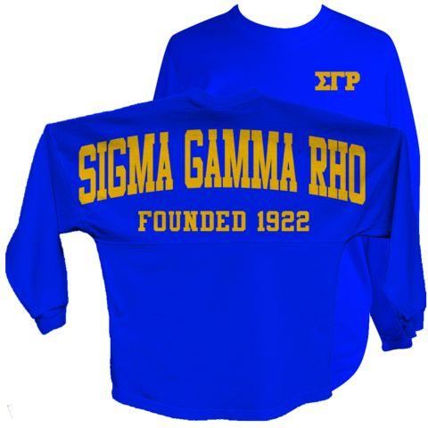Sigma Gamma Rho Spirit Jersey (Blue) - Letters Greek Apparel - Black Greek Paraphernalia