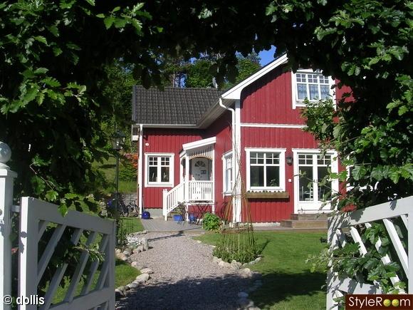 Grind, grusgång och hus