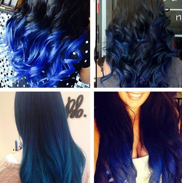 Black to blue! Ombre love | Ombré hair | Pinterest | I ...