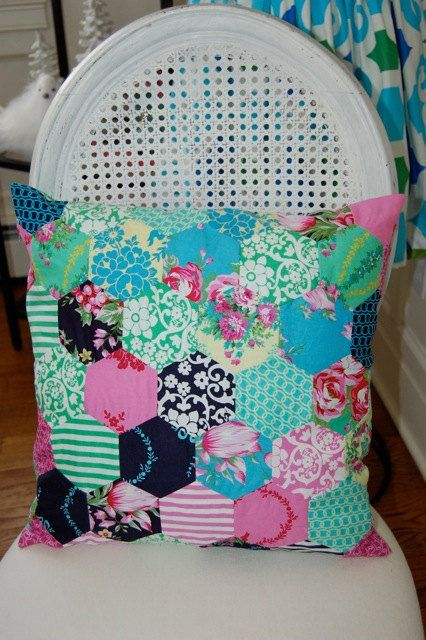 Sis Boom Beauty Queen Hexie Pillow 16 x 16 by JenniferPaganelli, $85.00