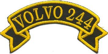Tygmärke Volvo 244
