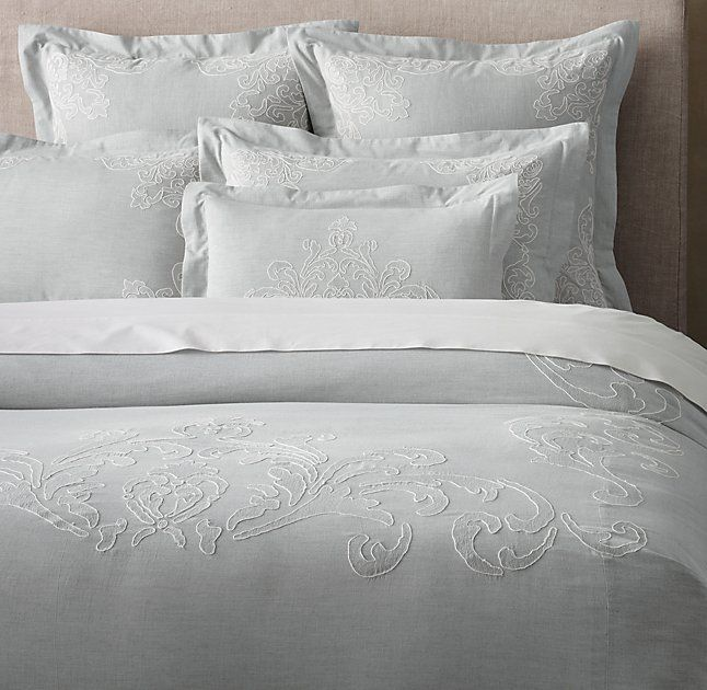 Embroidered Vine Duvet Cover. Beautiful for the master bedroom