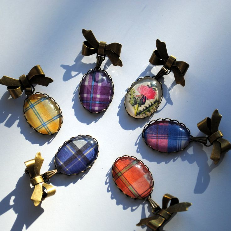 Tartan Bow Brooch CUSTOM - Jewelry Scottish Plaid Women Teen Girl Gifts Under 25 Celtic. $20.00, via Etsy.