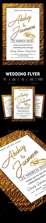 Best Wedding Flyer Images On   Flyer Template Font