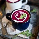 L'Automne: Soupe betterave, pomme, lait de coco & gingembre