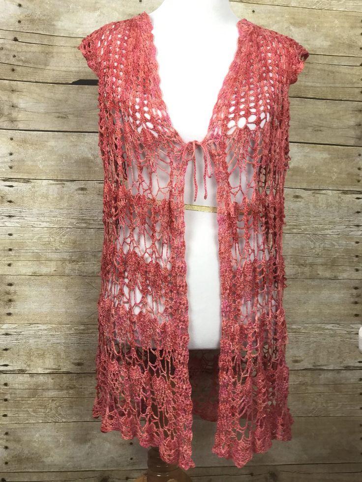 Fine Summer Lovin' Crochet Lace Vest FREE Pattern