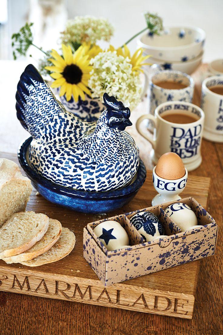 Blue Hen on Nest  http://www.emmabridgewater.co.uk/invt/1bhb020176