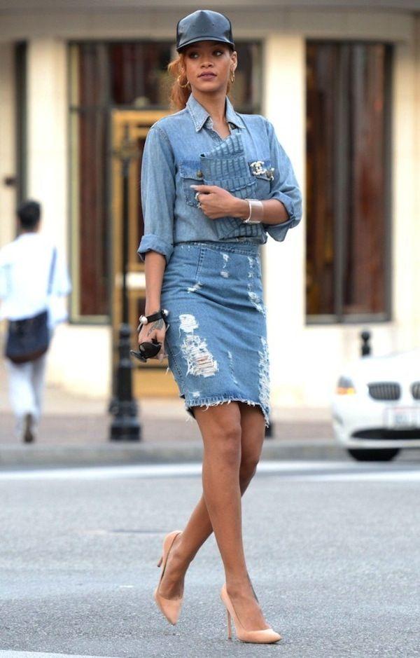 25 maneiras de usar camisa jeans feminina