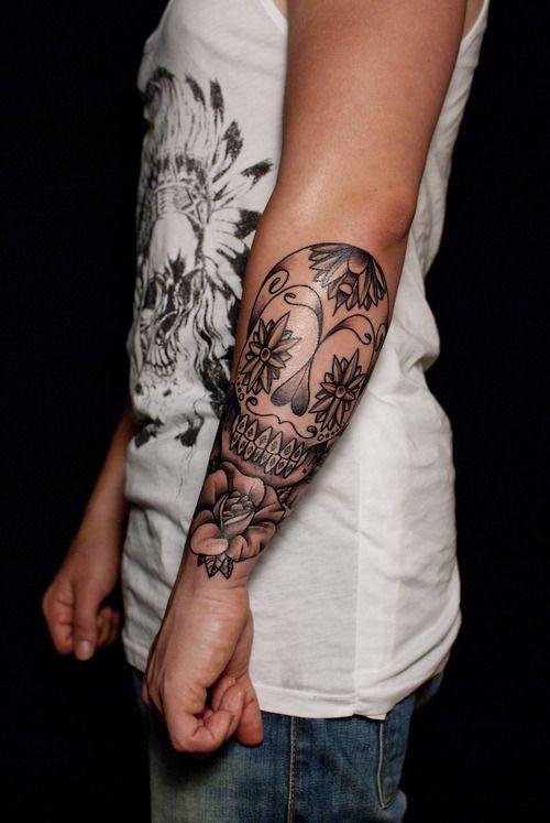 Skull tattoo on forearm. | Tattoos | Pinterest | Skulls ...