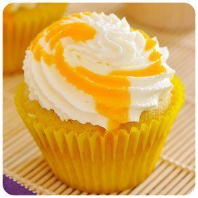 Cupcakes cremosos de manga | Vídeos e Receitas de Sobremesas