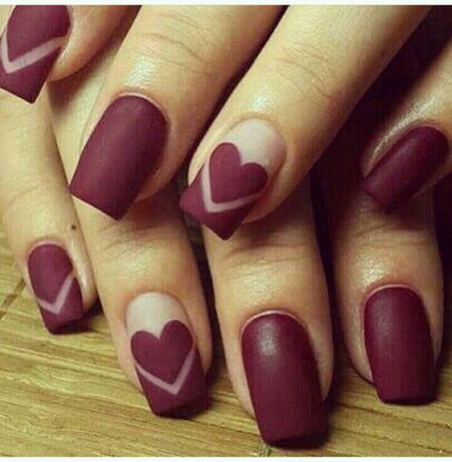 nails, heart, and nail art image - The 25+ Best Maroon Nails Ideas On Pinterest Maroon Nails