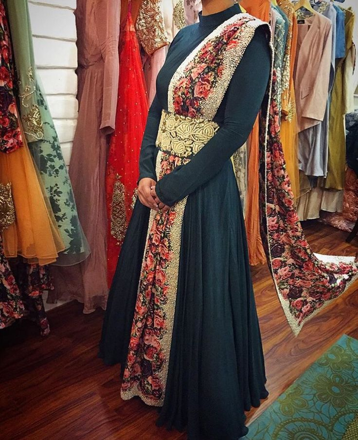 Bhumika Sharma # floral love # pleated suit # Indian fusion