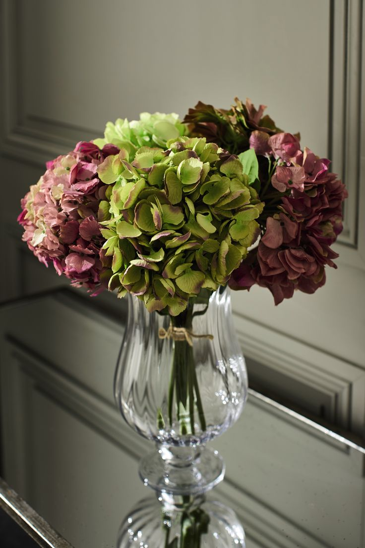 Hydrangeas usually flower in mid spring our faux